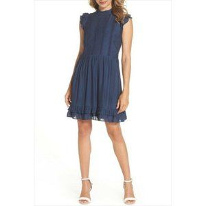 CHELSEA28 NEW Embroidered Bodice A-line Dress